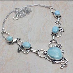 Caribbean Larimar Handmade Necklace